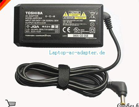 TOSHIBA IK-WB21 adapter, 12V 2A IK-WB21 Notebook Netzteile, TOSHIBA12V2A24W-5.5x3.0mm